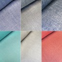 100% Polyester Fabric Melange Linen Look Dressmaking Curtains 145cm Wide