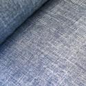Navy 100% Polyester Fabric Melange Linen Look Dressmaking Curtains 145cm Wide