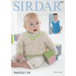 Sirdar Knitting Pattern 4878 Baby Childrens Cardigan Sweater 0-7 Years