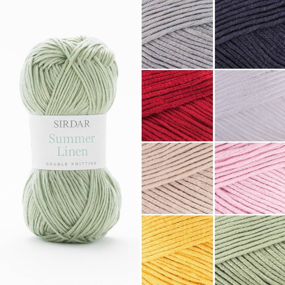 Sirdar Summer Linen DK Double Knit Knitting Yarn 50g Ball Pure White