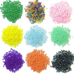 2mm Seed Beads Glass 15g 24 Colours