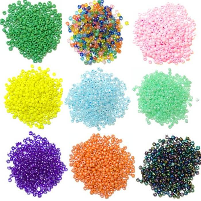 Silver Seed Beads Glass 2mm  24 Colours