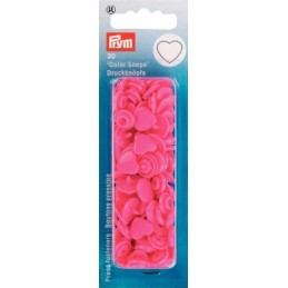Pink Prym Novelty Shaped Snap Press Fasteners Heart Shaped Plastic Press Studs