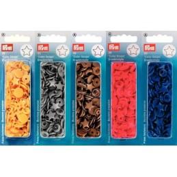 Prym Novelty Shaped Snap Press Fasteners Star Shaped Plastic Press Studs
