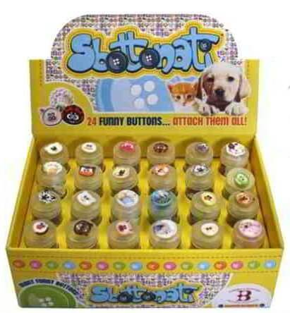 Design 1 Sbottonati Novelty Animal Shaped Sew Through Buttons