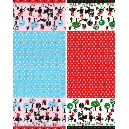 Sale 100% Japanese Cotton Fabric Lecien Little Red Riding Hood Fairy Tale Floral