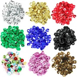5mm Cup Sequins 12 Colours Sewing Embellishments