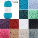 Sirdar Cotton DK Double Knit Knitting Yarn Crochet Craft 100g Ball