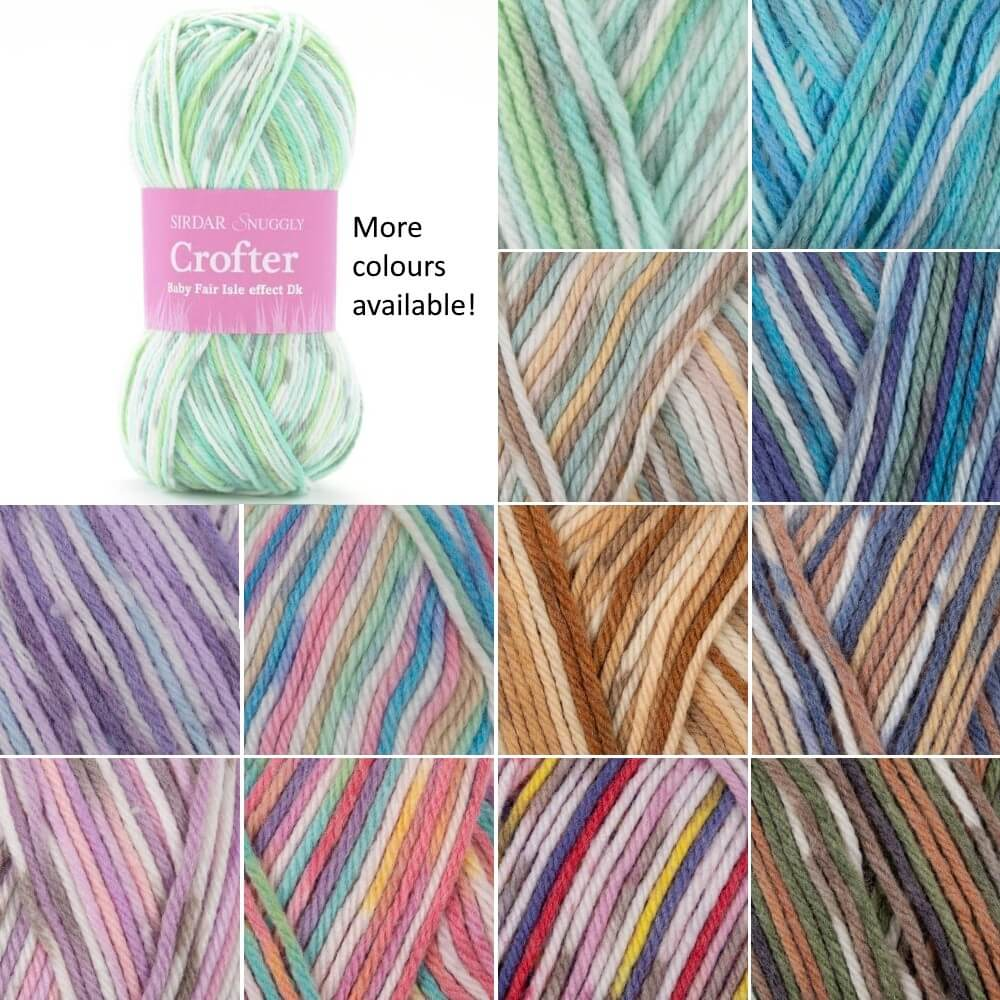 Sirdar Snuggly Crofter DK Double Knitting Baby Fair Isle Yarn Wool 50g Ball Fergus