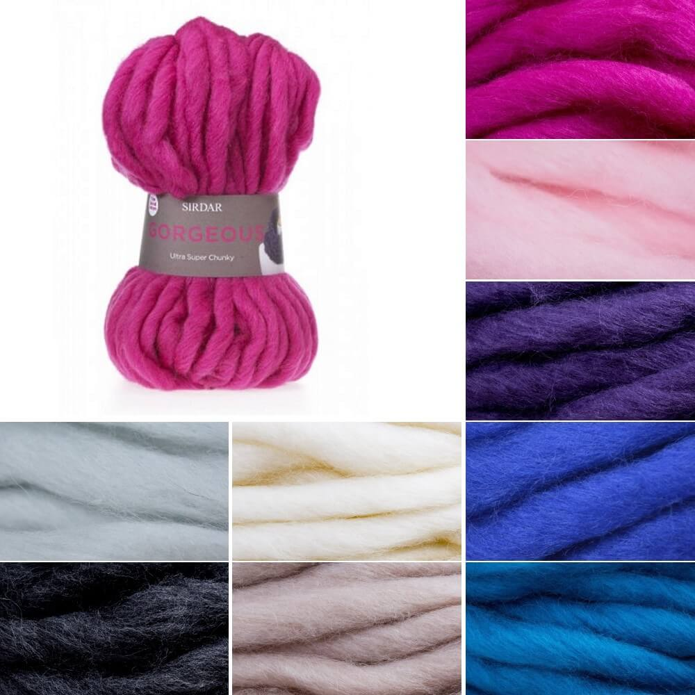 Sirdar Gorgeous Super Chunky Knitting Wool Yarn 150g Ball Incl Snood Pattern Oasis