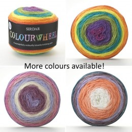 Sirdar Colourwheel DK Double Knit Knitting Yarn Cake 150g Ball