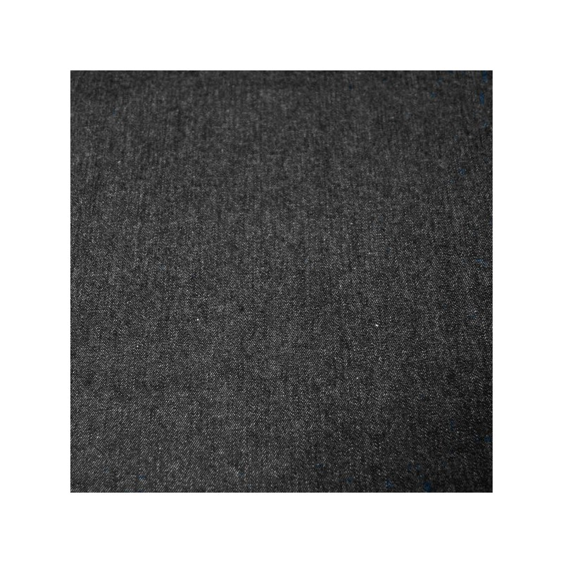 Black 100% Cotton Washed Denim Fabric 8oz Medium 287gsm