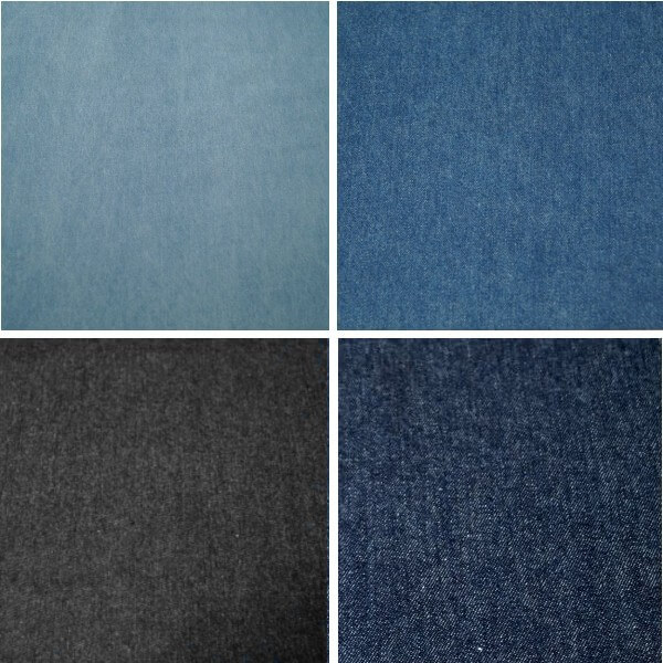 Medium Denim 100% Cotton Washed Denim Fabric 8oz Medium 287gsm