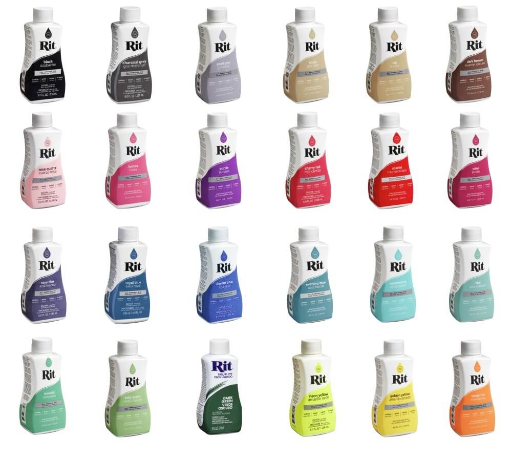 Rit Dye All Purpose Natural Fibre Fabric Liquid Dye 236ml in 34 Colours Wine