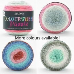 Sirdar Colourwheel Dazzle DK Double Knit Knitting Yarn Cake 150g Ball