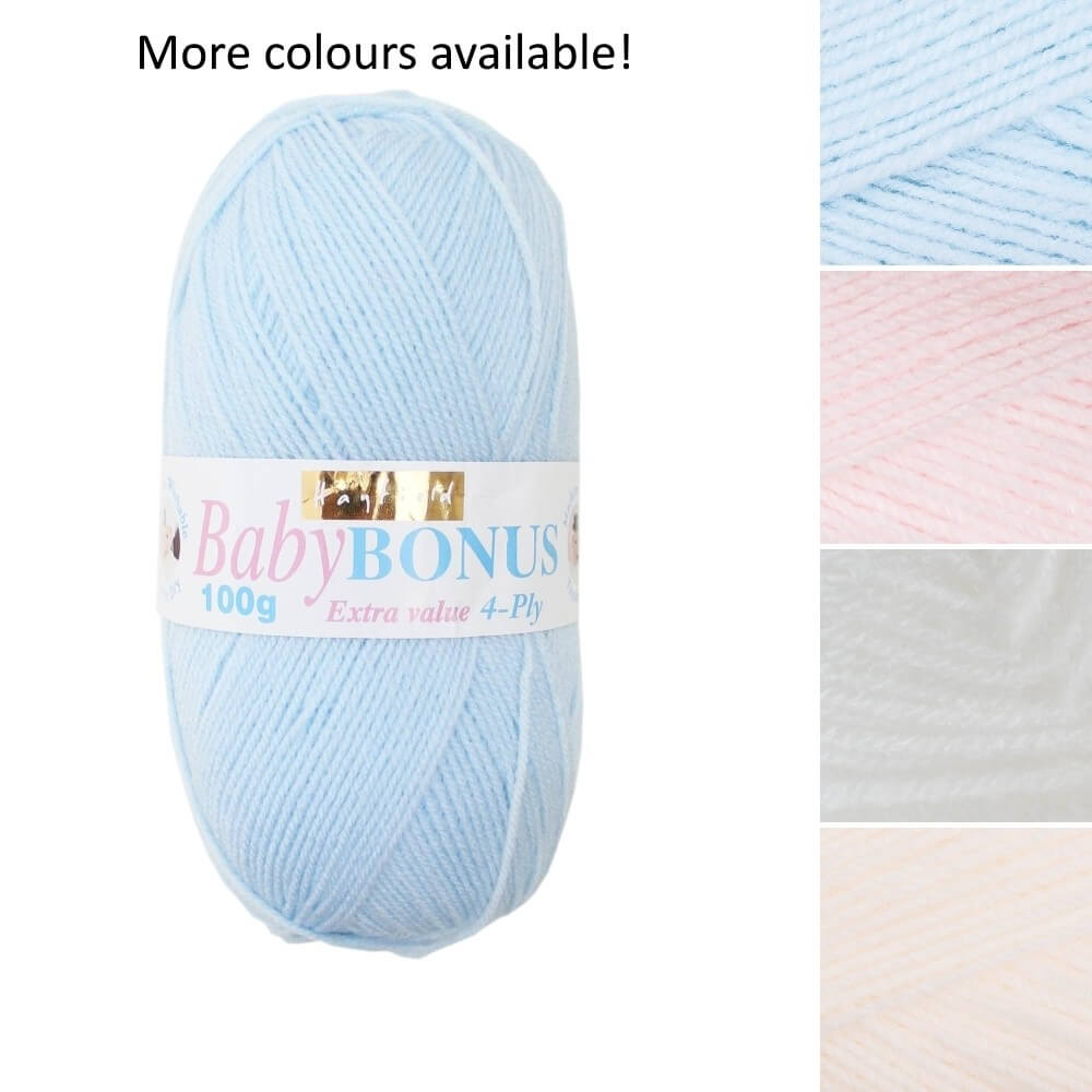 Sirdar Hayfield Baby Bonus Extra Value 4 Ply Knitting Yarn 100g Ball Baby Pink