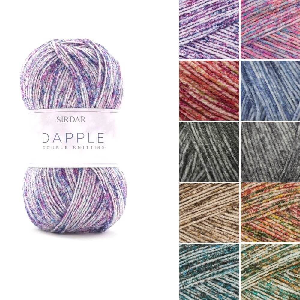 Sirdar Dapple DK Double Knit Yarn Wool 100g Ball Colour Effect Mottled Knitting Cherry Blossom
