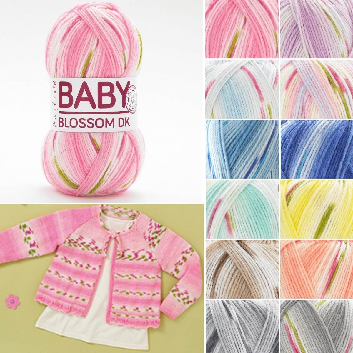 Sirdar Hayfield Baby Blossom DK Double Knit Knitting Yarn 100g Ball Baby Bouquet