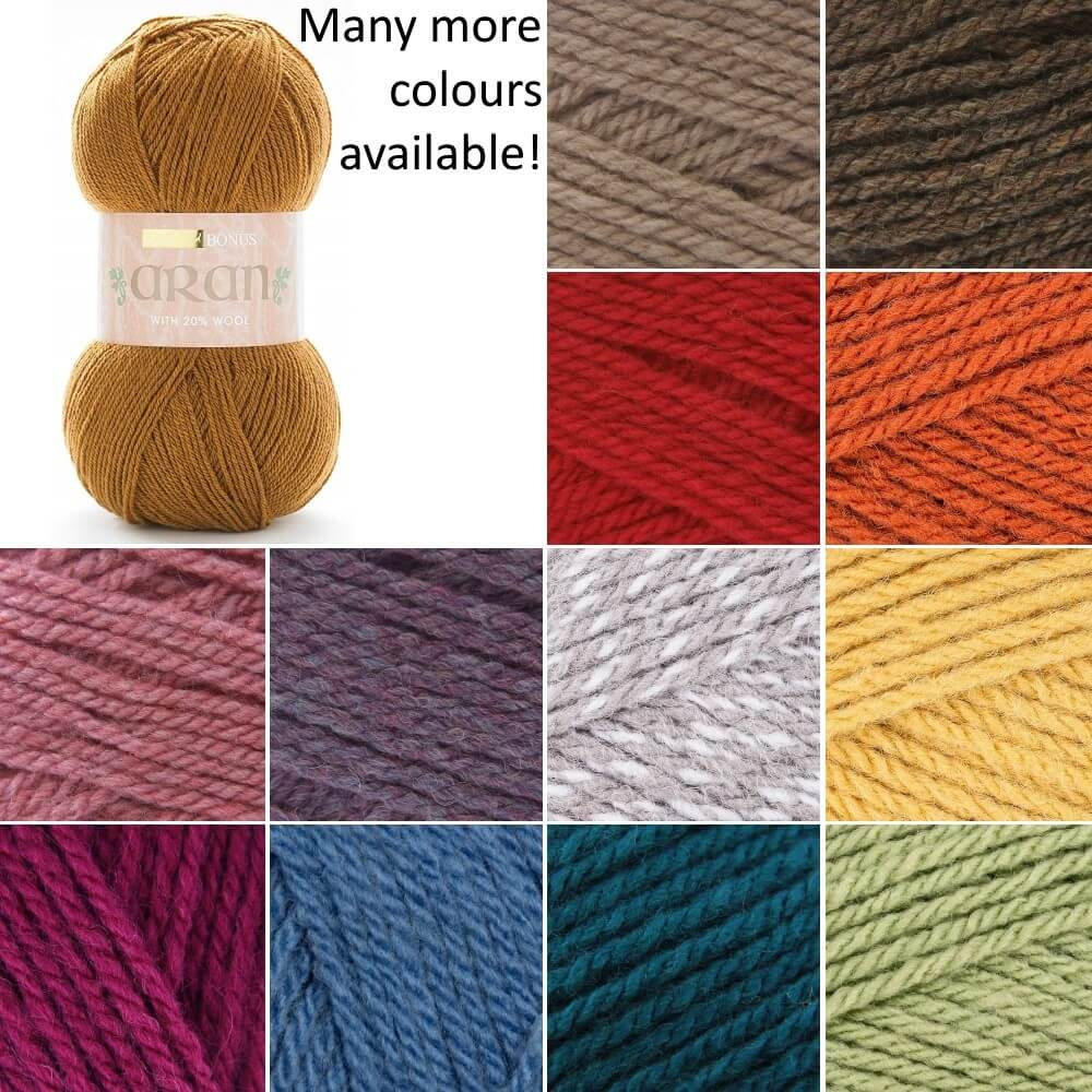 Sirdar Hayfield Bonus Aran Knitting Yarn 20% Wool 80% Acrylic 400g Giant Ball Wine