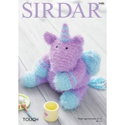 Sirdar Knitting Pattern 2486 Cuddly Soft Cute Unicorn Toy Touch Wool Knit