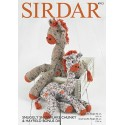 Sirdar Knitting Pattern 4913 Cuddly Soft Cute Giraffe Snuggly Snowflake Chunky