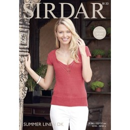 Sirdar Knitting Pattern 8133 Womens Knit Top Ladies Knitted Summer Linen DK