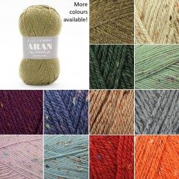 Sirdar Hayfield Bonus Aran Tweed Knitting Yarn 20% Wool 80% Acrylic 400g Ball