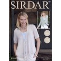 Sirdar Knitting Pattern 8135 Womens Easy Knit Cardigan Knitted Summer Linen DK