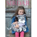 Sirdar Knitting Pattern 7966 Husky Cuddly Toy in Wild and Snuggly Snowflake