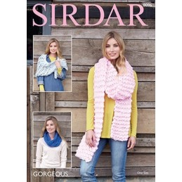 Sirdar Knitting Pattern 8096 Gorgeous Scarf, Wrap & Snood