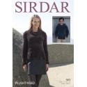 Sirdar Knitting Pattern 7872 Cowl Neck or Hooded Sweater in Plushtweed