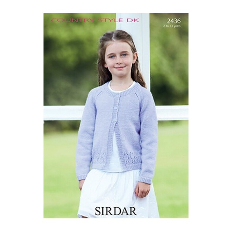 Sirdar Knitting Pattern 2436 Girl's Cardigan in Country Style DK