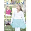 Hayfield Knitting Pattern 2490 Girls Ballet Wrap Style Cardigan in Sundance DK