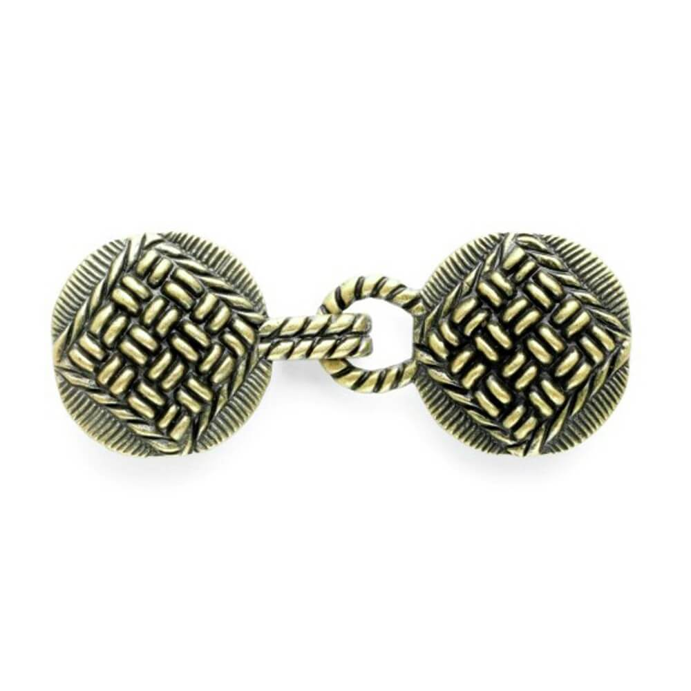 80mm Hook & Eye Brass Clasps Knitted Style Pattern Vogue Star Fastener Buckle