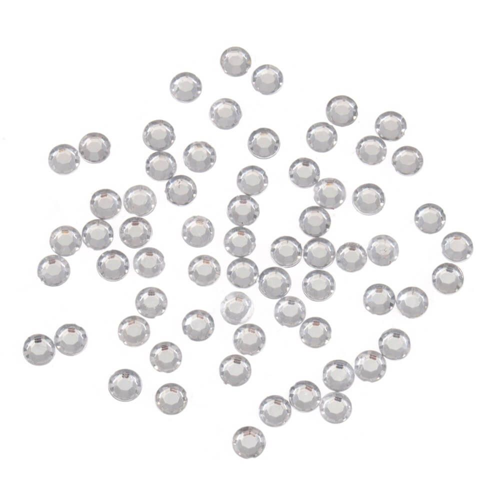 Trimits 350 Round Silver Gems Embellishments Scrapbooking Craft for Occasions