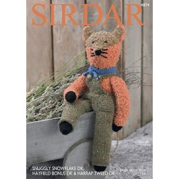 Sirdar Knitting Pattern 4874 Cuddly Soft Cute Fox Snuggly Snowflake Hayfield