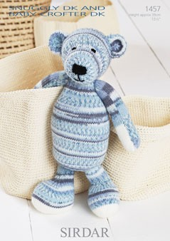 Sirdar Knitting Pattern 1457 Cuddly Soft Cute Bear Snuggly DK Baby Crofter DK