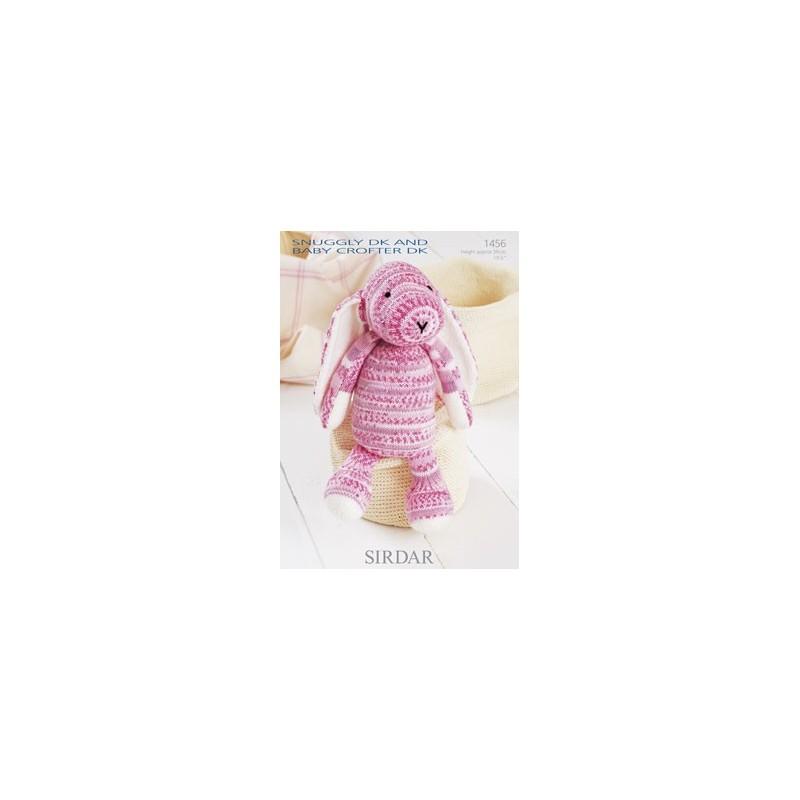 Sirdar Knitting Pattern 1456 Cuddly Soft Cute Bunny Snuggly DK Baby Crofter DK