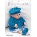 Sirdar Knitting Pattern 2483 Baby Doll Jacket Beret Shoes Pants Bonus DK