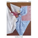 Sirdar Knitting Pattern 3266 Baby Children Blanket Shawl Cot Snuggly 3 Ply