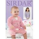 Sirdar Knitting Pattern 4906 Baby Cardigan Childrens Knit Snuggly Rascal DK