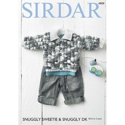 Sirdar Knitting Pattern 4909 Babies Cosy Jacket Knit Snuggly Sweetie Rascal DK