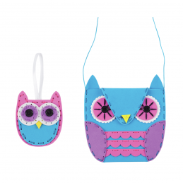 First Sewing Kit Children's Craft Knitting Project Owls