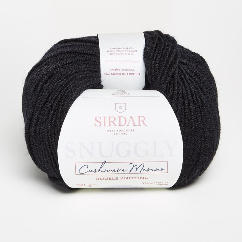 Sirdar Snuggly Cashmere Merino DK Black