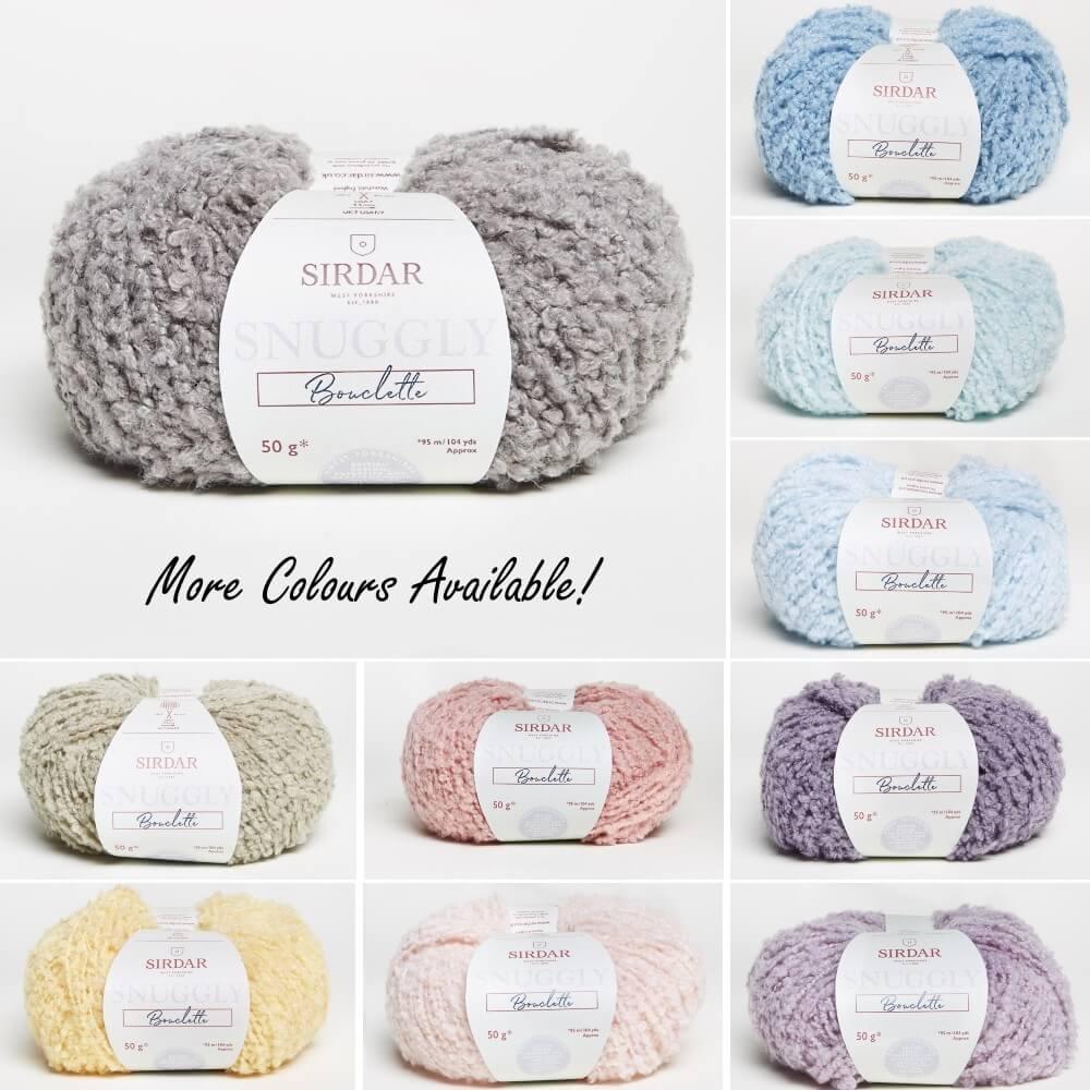 Sirdar Snuggly Bouclette Fashion Fluffy Knitting Yarn Craft Wool 50g Ball Coconut White