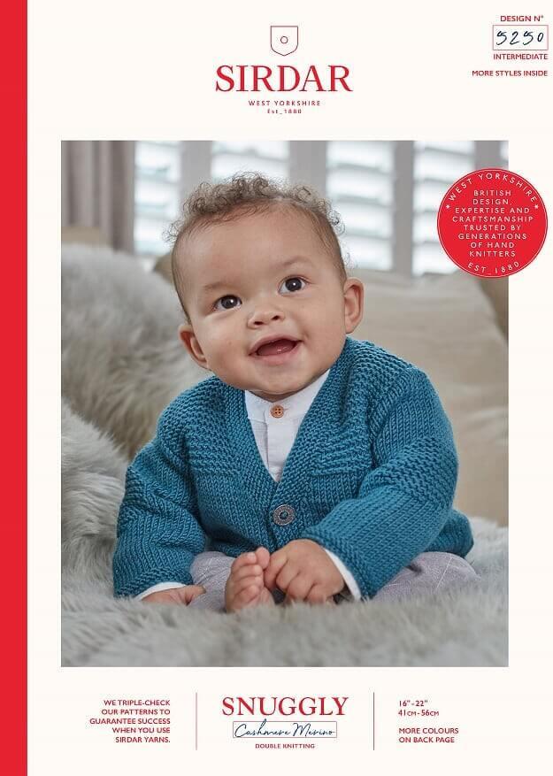 Sirdar Knitting Pattern 5250 Snuggly Cashmere Merino Baby Cardigan