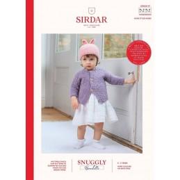 Sirdar Knitting Pattern 5252 Bouclette Baby Cardigan & Bunny Hat