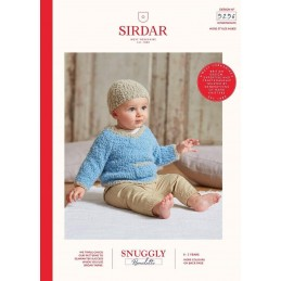 Sirdar Knitting Pattern 5256 Snuggly Bouclette Baby Hay & Jumper With Pockets