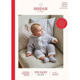 Sirdar Knitting Pattern 5259 Snuggly Bouclette Baby Booties & Onesie