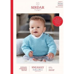 Sirdar Knitting Pattern 5244 Snuggly Cashmere Merino Baby Jumper With Buttons